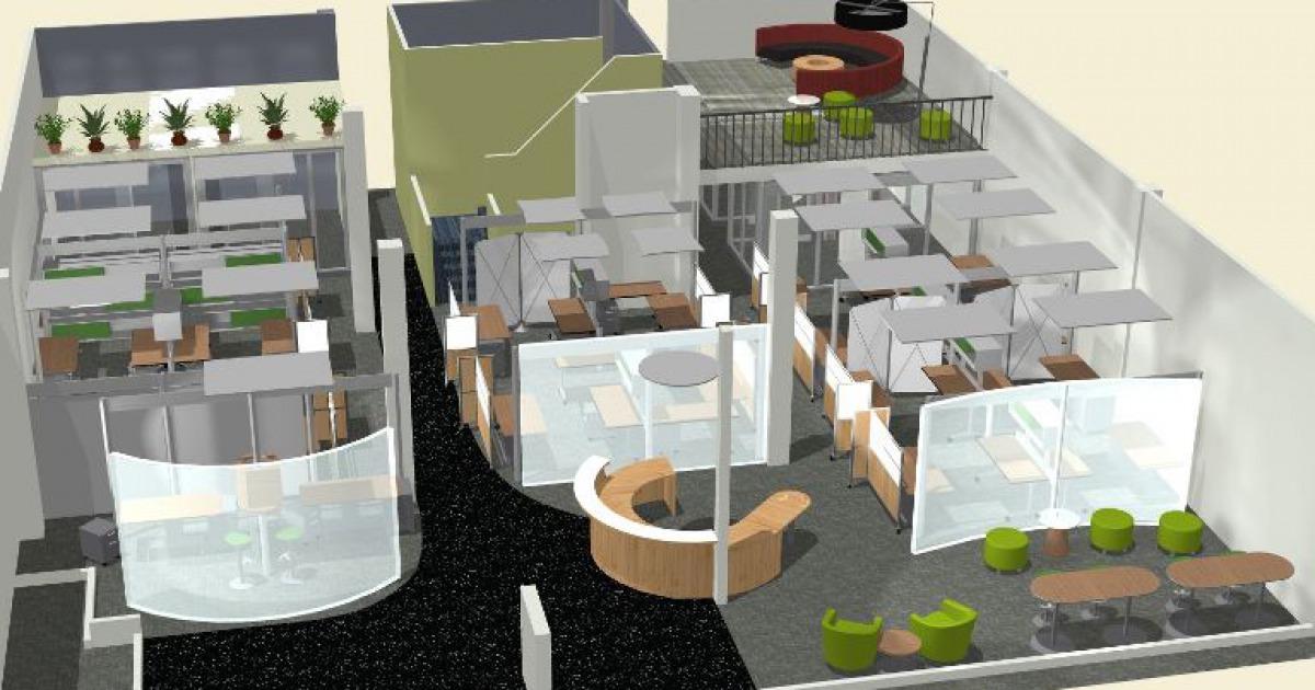 Interior Design And Furniture Planning Graphic Office Interiors